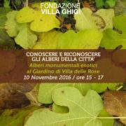 Fondazione Villa Ghigi - Conoscere e Riconoscere gli Alberi della Città - Villa delle Rose Bologna